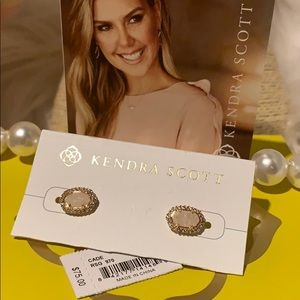 Kendra Scott earrings Cade rose gold New!